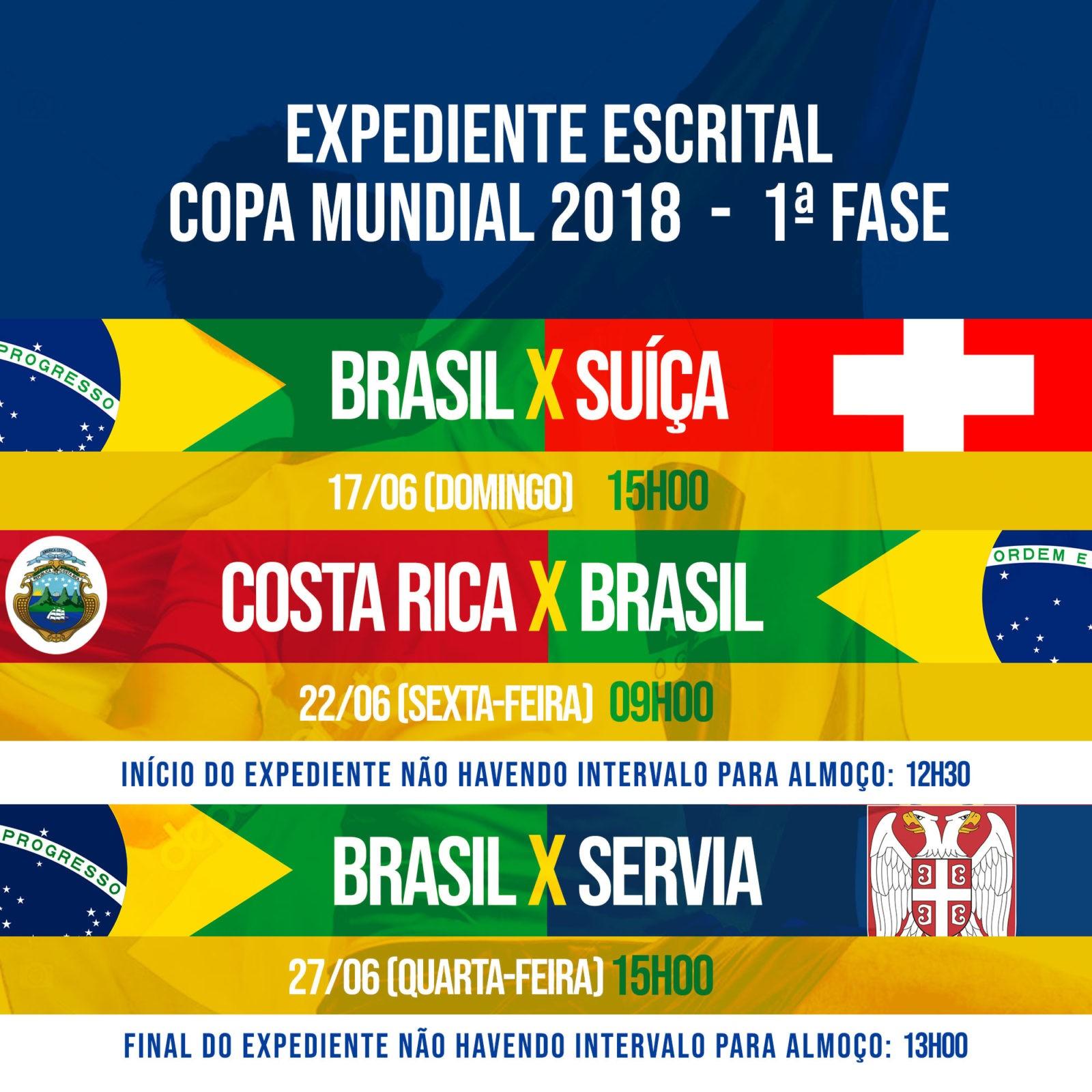 Expediente Escrital copa do mundo 2018
